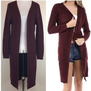 Large sweater Cabernet cardigan with pockets